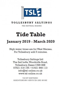 TSL Tide table front cover